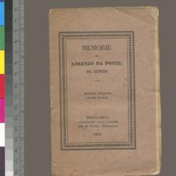 Memorie. In tre volume. Sec...