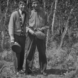 Two Men Posing for the Camera