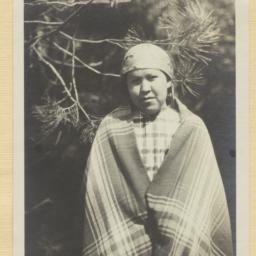 Young Kootenai Indian Woman...