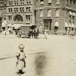 Child in Front of Demilt Di...