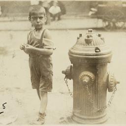 Boy near Fire Hydrant