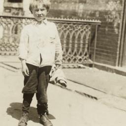 Boy Holding Cloth