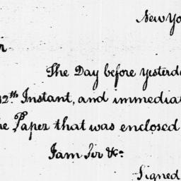 Document, 1786 April 29