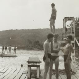 Boys on Dock with Lifeguard...