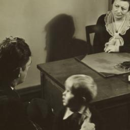 Caseworker Interviewing Family