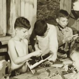 Boys Doing Woodwork
