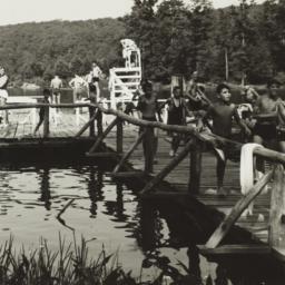 Boys on Lakeside Dock