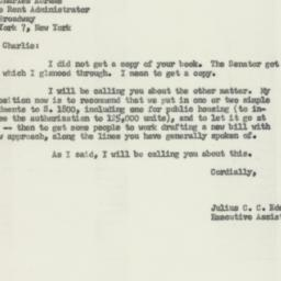 Letter: 1955 May 18