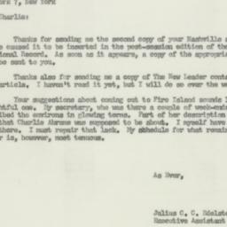 Letter: 1955 August 22