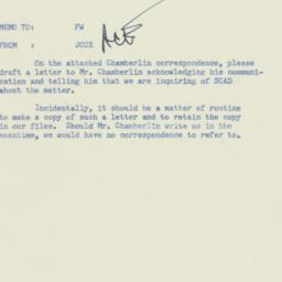 Memorandum: 1955 December 21