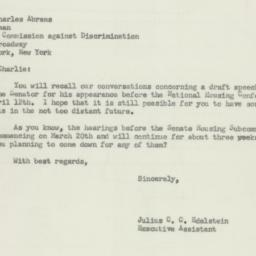 Letter: 1956 March 17