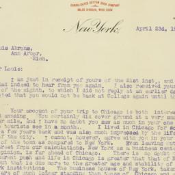 Letter: 1906 April 23