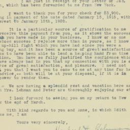 Letter : 1920 February 4