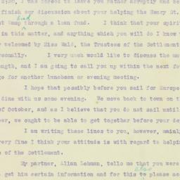 Letter: 1921 October 1