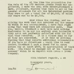 Letter : 1925 August 18