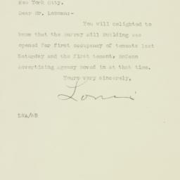 Letter: 1925 October 26