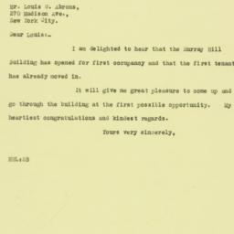 Letter: 1925 October 27