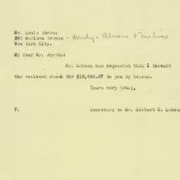 Letter: 1925 November 19