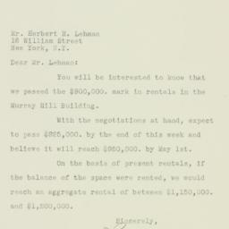 Letter: 1926 April 20