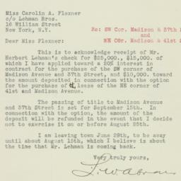 Letter: 1926 June 22