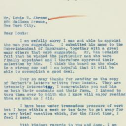 Letter: 1933 May 1
