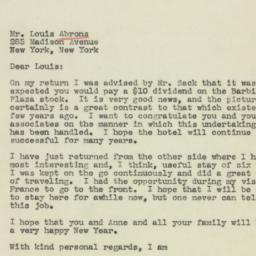 Letter: 1944 January 2