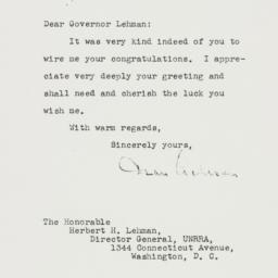 Letter: 1945 August 30