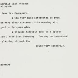 Letter: 1947 October 15