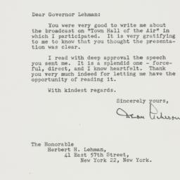 Letter: 1947 October 23