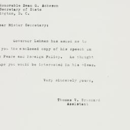 Letter: 1949 October 15