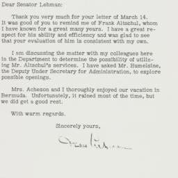 Letter: 1951 March 30