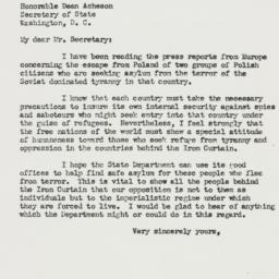 Letter: 1951 August 6