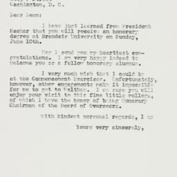 Letter: 1956 June 1