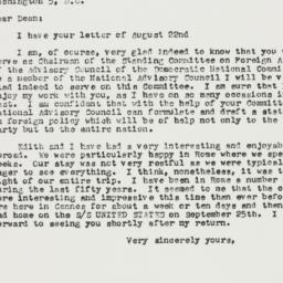Letter: 1957 September 2