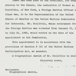 Letter: 1950 July 5