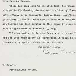 Letter: 1950 December 7