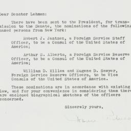 Letter: 1952 March 28
