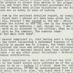 Letter: 1954 November 8