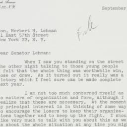 Letter : 1959 September 16