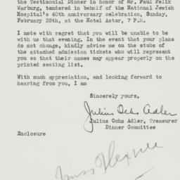 Letter: 1940 February 5