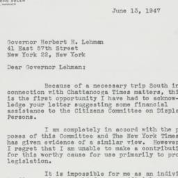 Letter: 1947 June 13