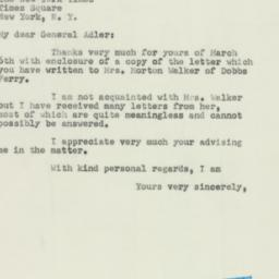 Letter: 1952 March 11