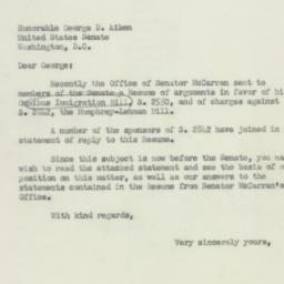 Letter: 1952 May 12