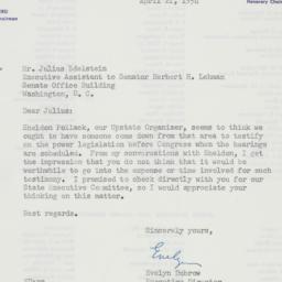 Letter: 1954 April 21
