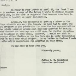 Letter: 1954 April 23