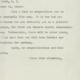 Letter: 1954 November 4