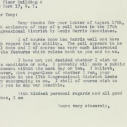 Letter : 1956 August 20