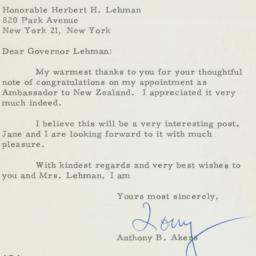 Letter: 1961 April 25