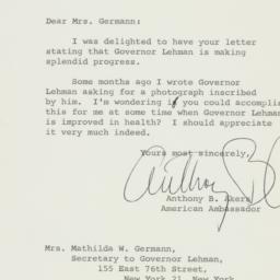 Letter: 1963 April 1