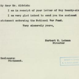 Letter : 1943 June 7